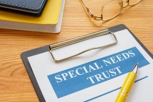 special needs trust on clipboard
